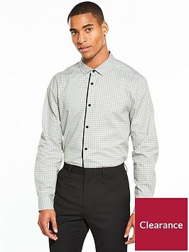v-by-very-long-sleeve-mini-print-stretch-shirt-charcoalnbsp