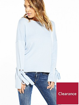 v-by-very-eyelet-tie-sleeve-jumper