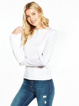 v-by-very-power-shoulder-sleeve-jumper-ivory