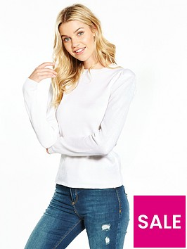 v-by-very-power-shoulder-sleeve-jumper-ivory