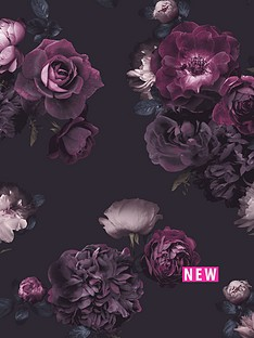 arthouse-euphoria-floral-plum-wallpaper