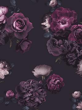 arthouse-euphoria-floral-plum-wallpaper