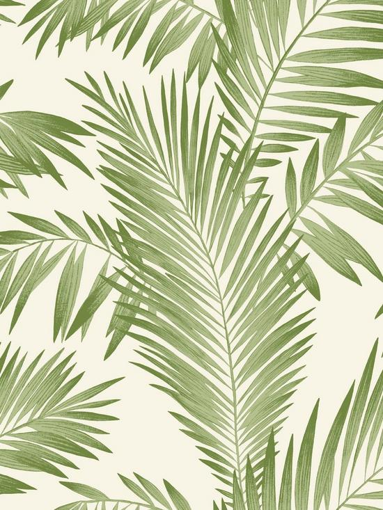 Arthouse Tropical Palm Wallpaper Green Verycouk