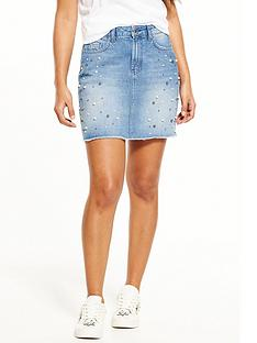 v-by-very-pearl-detail-denim-mini-skirt