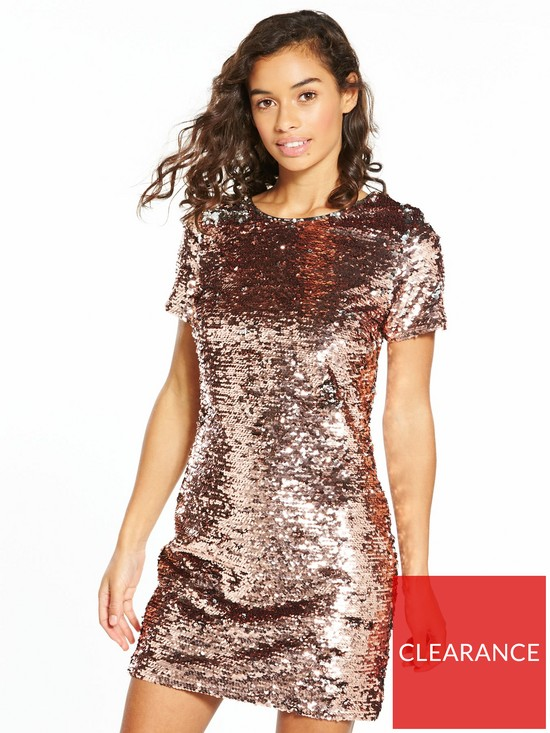 a9a4c8f3 V by Very Petite Premium Sequin Shift Dress | very.co.uk