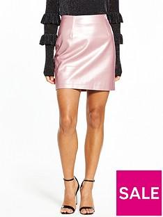 v-by-very-petite-metallic-pu-mini-skirt