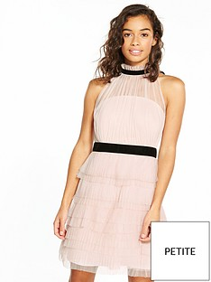 v-by-very-petite-high-neck-mesh-dress