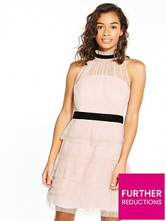 v-by-very-petite-high-neck-mesh-dress