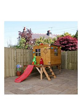 mercia-bluebell-playhouse-with-tower-and-slide