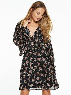 v-by-very-printed-cape-detail-tea-dress