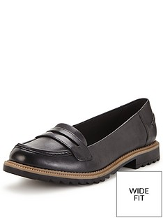 clarks-griffin-milly-wide-fit-loafer-black