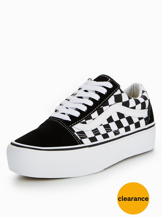 vans old skool checkerboard platform uk