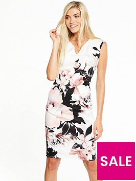 wallis-silhouettenbspfloral-scuba-dress