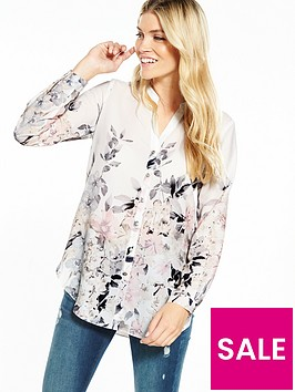 wallis-pretty-neutral-floral-shirt