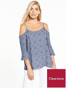 wallis-blue-tile-cold-shoulder-top
