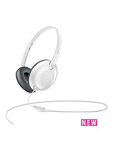 philips-flite-utrlite-slim-folding-lightweight-on-ear-headphones-with-mic-white