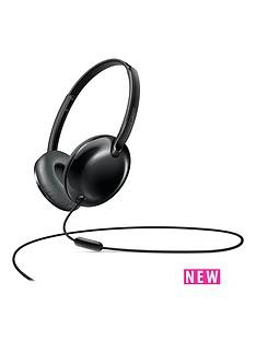 philips-flite-utrlite-slim-folding-lightweight-on-ear-headphones-with-mic-black