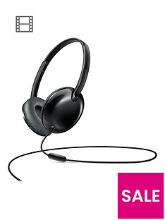 philips-flitenbspultralitenbspon-ear-headphones-with-micnbsp-nbspblack