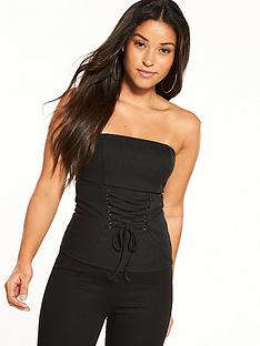 miss-selfridge-strapless-corset-top