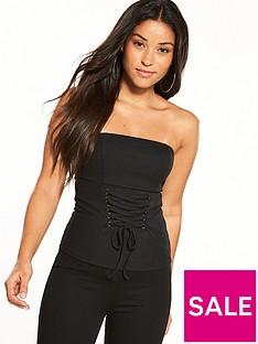miss-selfridge-strapless-corset-top