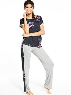 v-by-very-floral-front-slouchy-pj-set