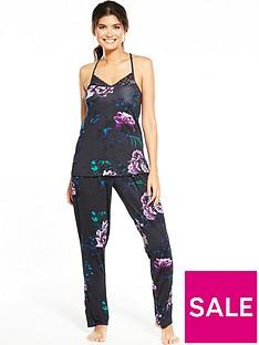 v-by-very-floral-lace-back-cami-pj-set