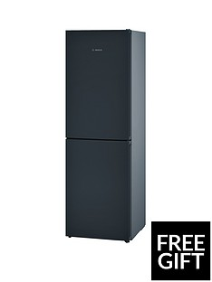 Bosch Serie 4 KGN34VB35G 60cm No Frost Fridge Freezer with VitaFresh - Black