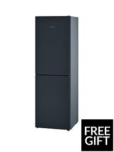 Bosch Serie 4 KGN34VB35G 60cm No Frost Fridge Freezer with VitaFresh- Black