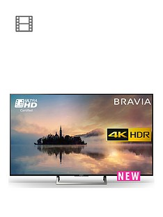 Sony KD43XE70, 43 inch, 4K Ultra HD CertifiedHDR, Android TV with Youview- Black