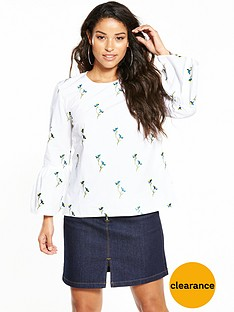 warehouse-iris-embroidered-top