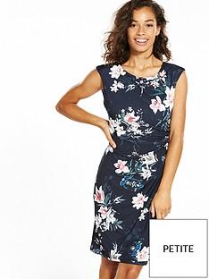 wallis-wallis-petite-oriental-rouche-side-dress