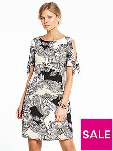 wallis-petite-paisley-tie-sleeve-jersey-dress