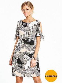 wallis-petite-paisley-tie-sleeve-jersey-dress
