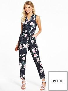 wallis-petite-oriental-wrap-jumpsuit