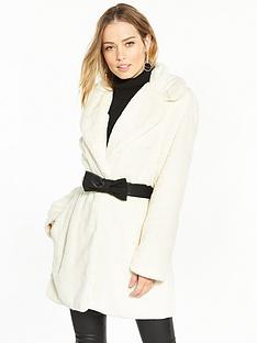 v-by-very-belted-faux-fur-coat-ivory