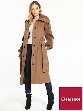 v-by-very-knit-sleeve-long-coat-camel