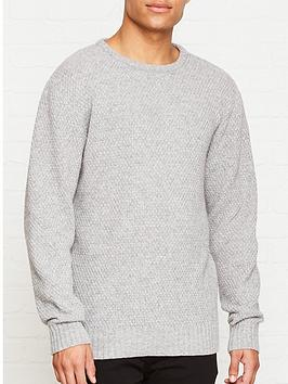 soulland-ricketts-waffle-knit-jumper-grey