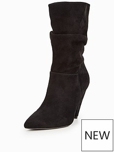 v-by-very-simone-suede-rouched-calf-boot-black