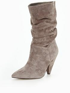v-by-very-simone-suede-ruched-slouch-calf-boot-grey