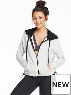 michelle-keegan-contrast-zip-hoodie