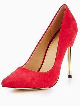 myleene-klass-sienna-gold-heel-point-court-suede-red
