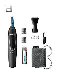 Philips Series 5000 Battery-Operated Nose, Ear & Eyebrow Trimmer - Showerproof & No Pulling Guaranteed - NT5171/15 Best Price, Cheapest Prices