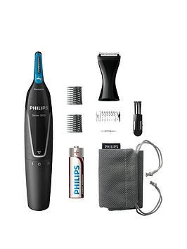 Philips Series 5000 Battery-Operated Nose, Ear &Amp; Eyebrow Trimmer - Showerproof &Amp; No Pulling Guaranteed - Nt5171/15