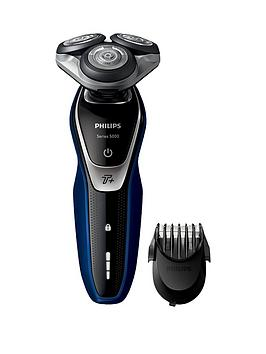 Photo of Philips series 5000 wet and dry mens electric shaver with turbo+ mode & beard trimmer - s5572/40
