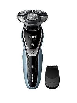 Philips Series 5000 Wet And Dry Men'S Electric Shaver With Turbo Mode And Precision Trimmer - S5360/06