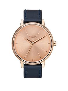 nixon-kensington-rose-gold-dial-navy-leather-strap-ladies-watch