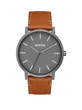 nixon-porter-charcoal-dial-brown-leather-strap-mens-watch