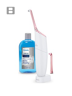 Philips Sonicare AirFloss Pro Power Flosser & Mouthwash Pink Edition - HX8432/12