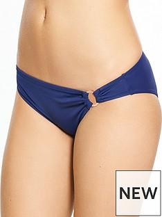 dorina-fiji-rose-gold-ring-trim-bikini-brief-navy