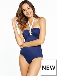 dorina-fiji-bandeau-rose-gold-detail-swimsuit-navy